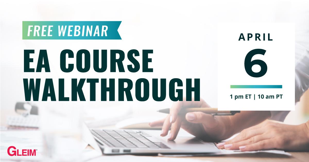 Free Webinar | EA Course Walkthrough | April 6