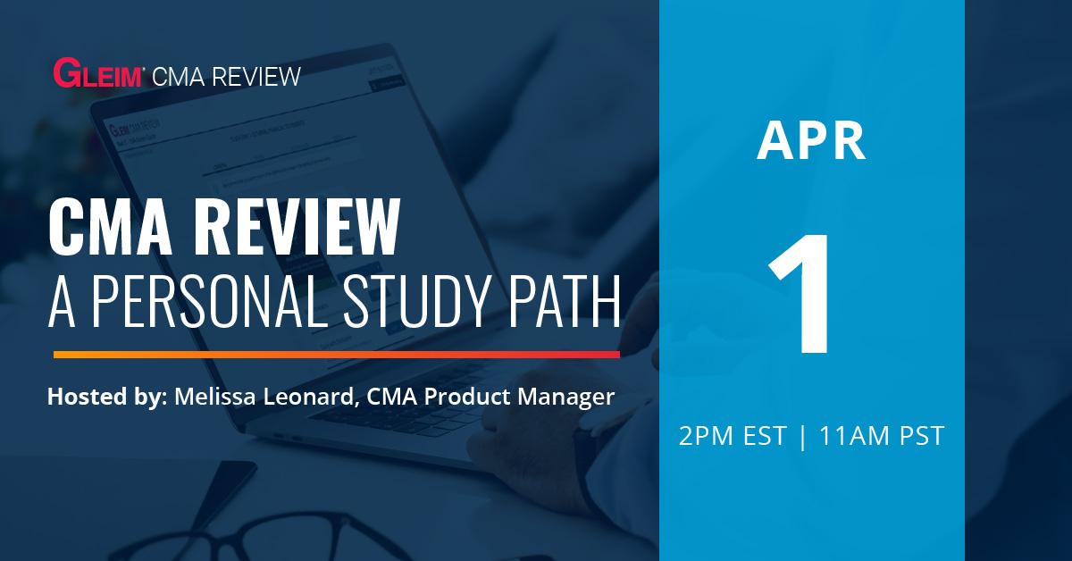 CMA Review A Personal Study Path   April 1