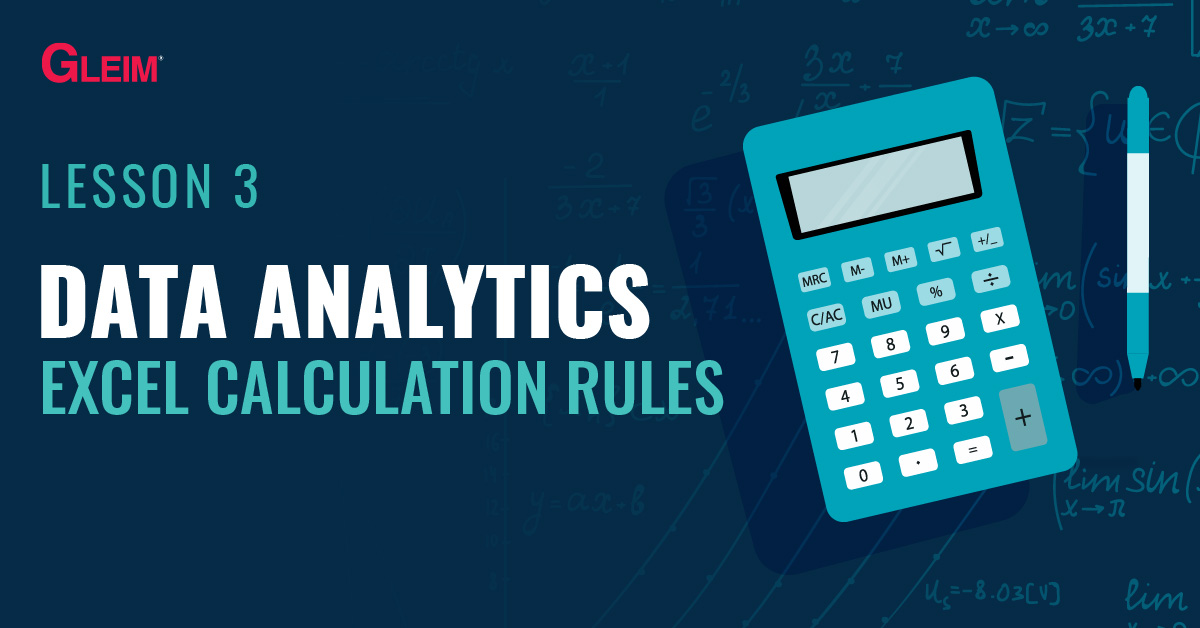 Lesson 3: Data Analytics Excel Calculation Rules