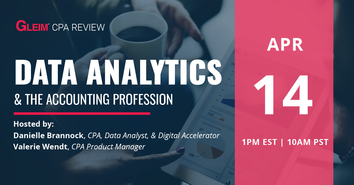 Data Analytics & The Accounting Profession   April 14