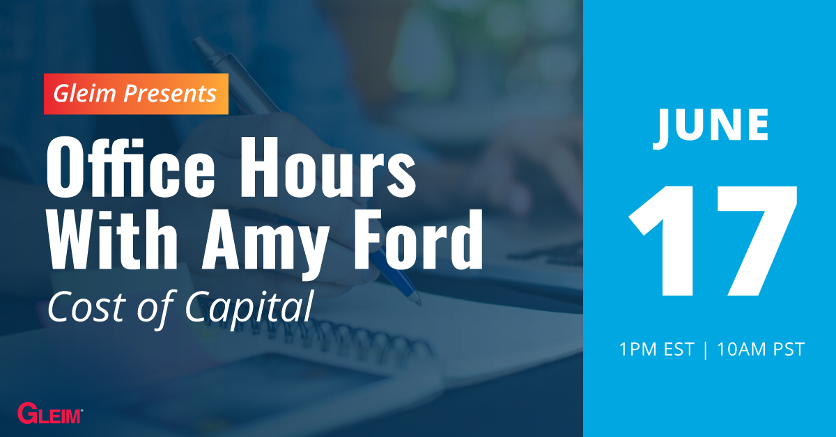 Gleim Presents Office Hours with Amy Ford   Cost of Capital   June 17
