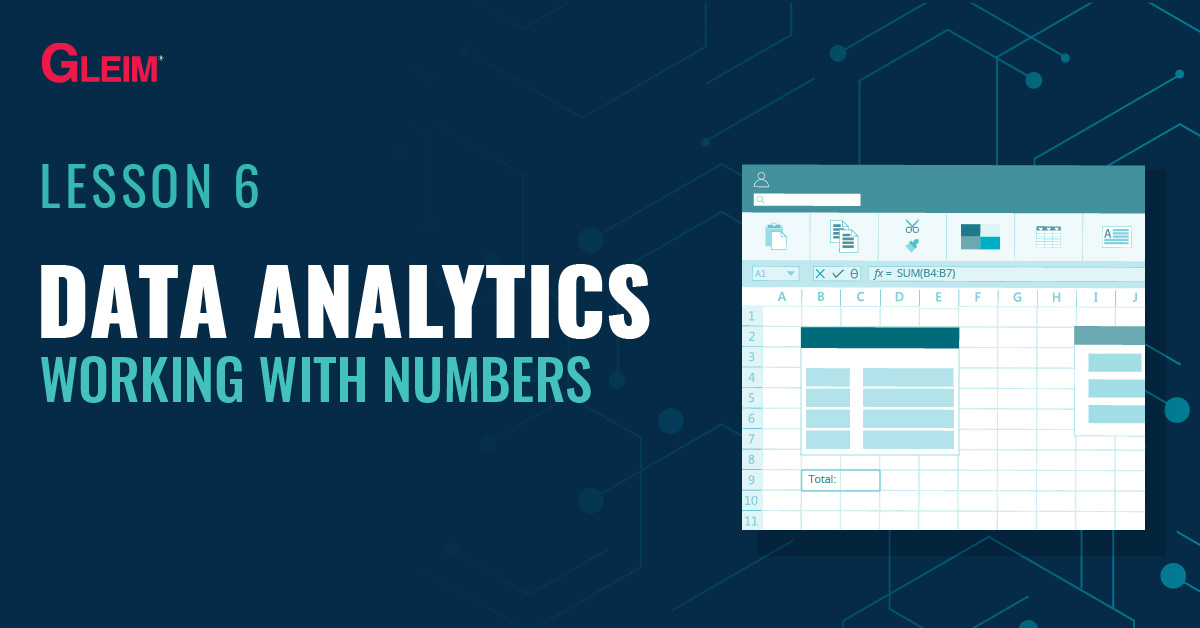 Data Analytics Lesson 6: Working with Numbers