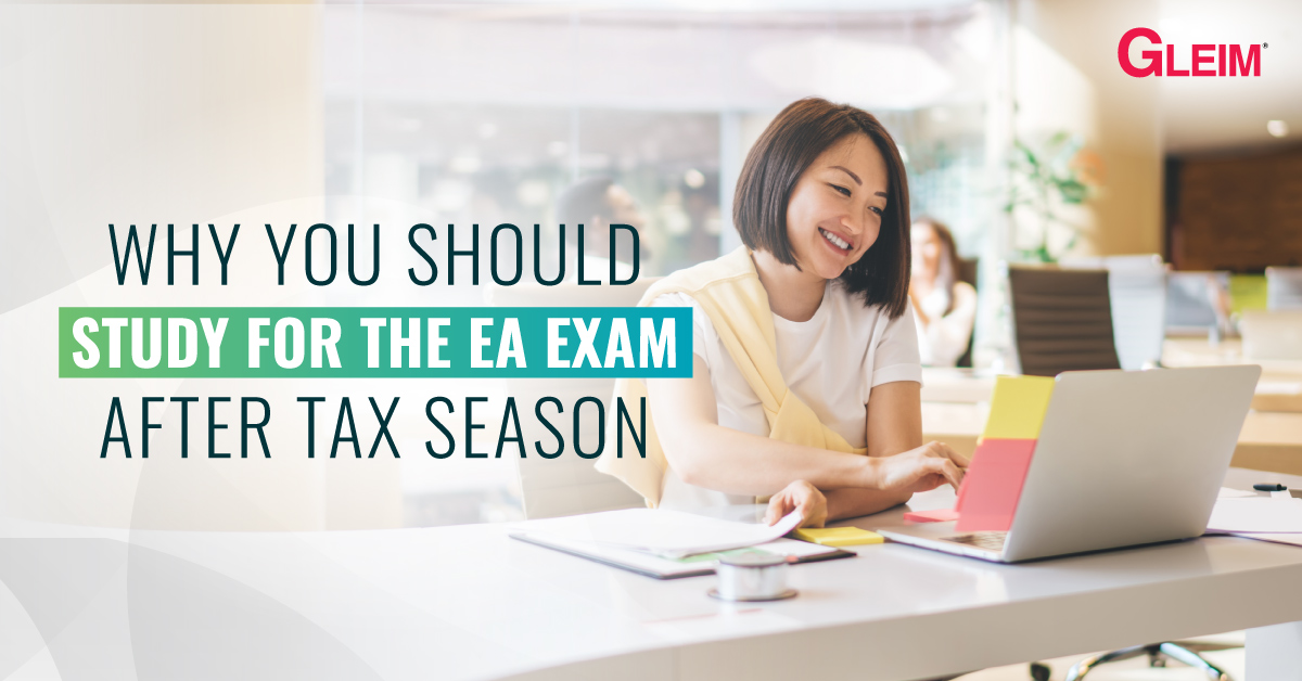 Why you should study for the EA exam after tax season