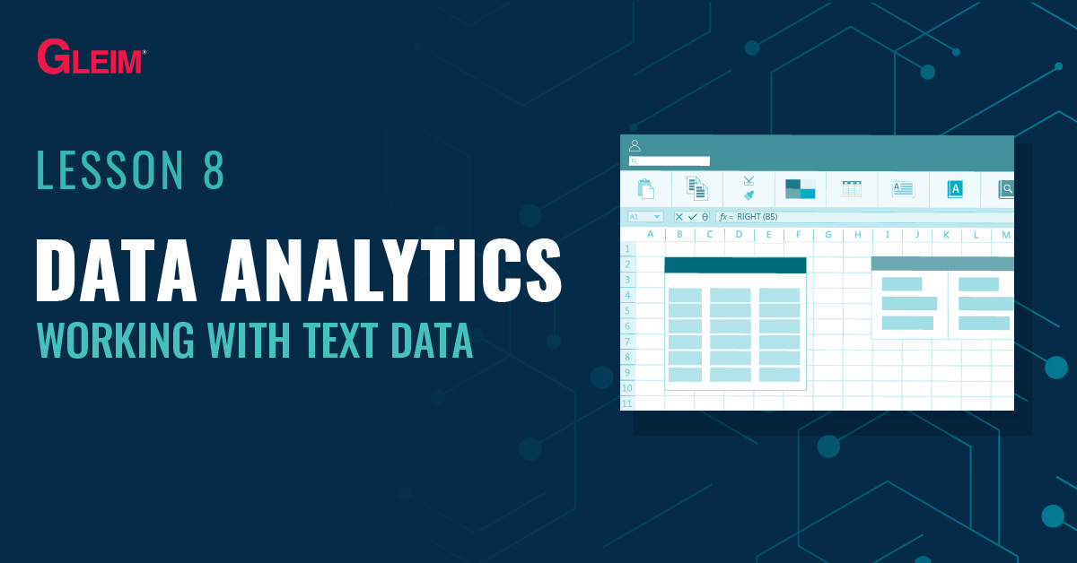 Lesson 8: Data Analytics and working with text data.