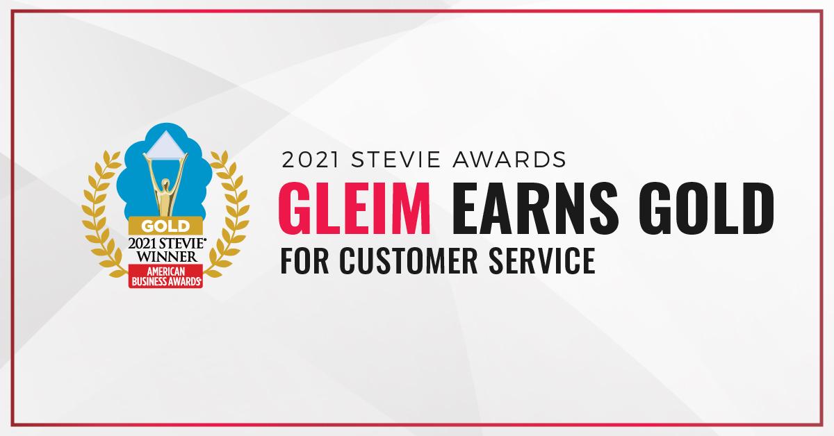 2021 Stevie Awards: Gleim earns gold for Customer Service