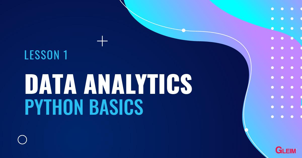 Data Analytics: Python Basics