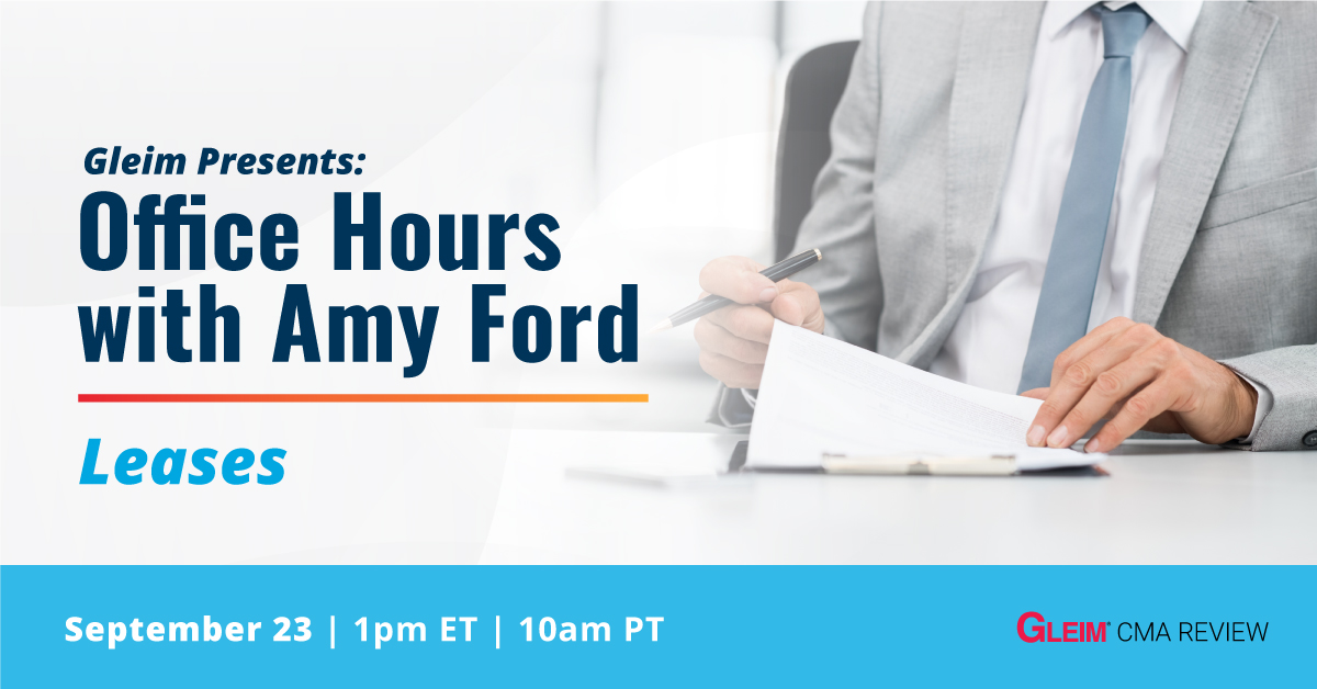 Gleim Presents: Office Hours with Amy Ford   Leases   Sept 23