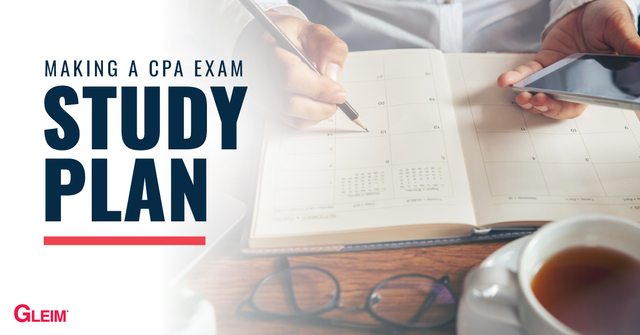Making a CPA Exam study plan.