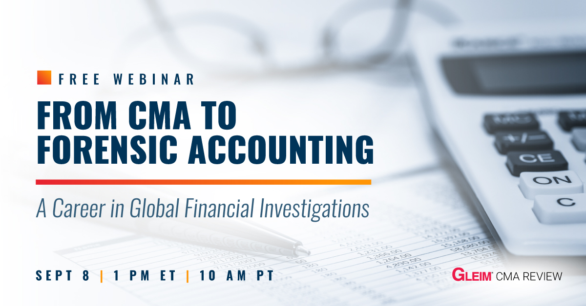 Free Webinar   From CMA to Forensic Accounting   Sept 8