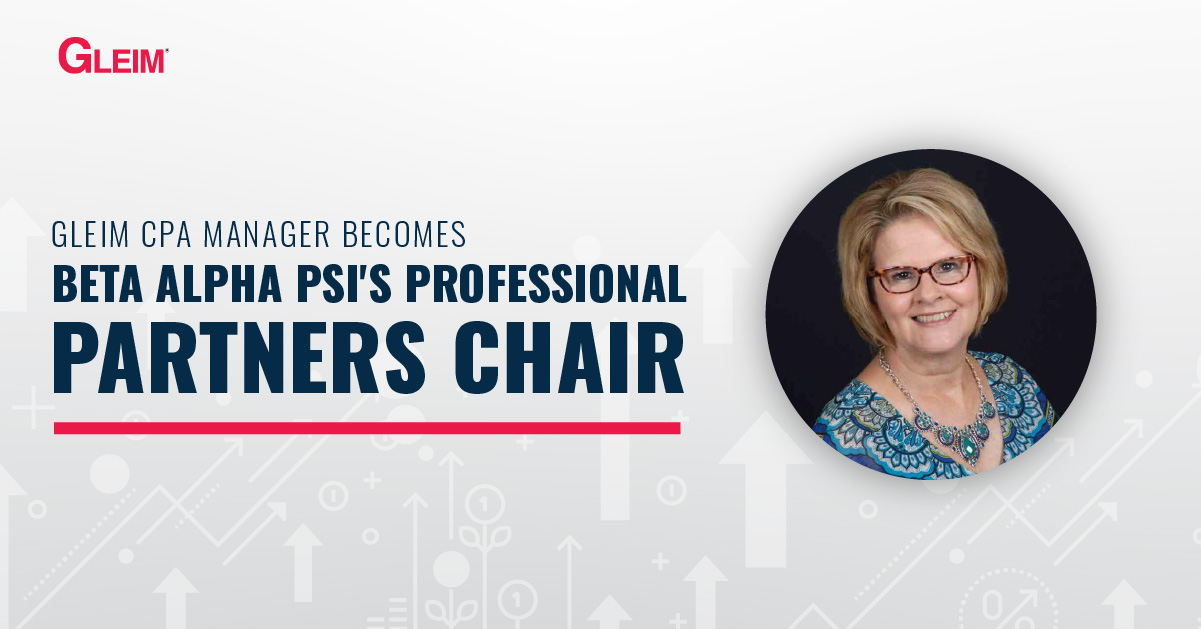 Gleim CPA Manager Becomes Beta Alpha Psi's Professional Partners Chair
