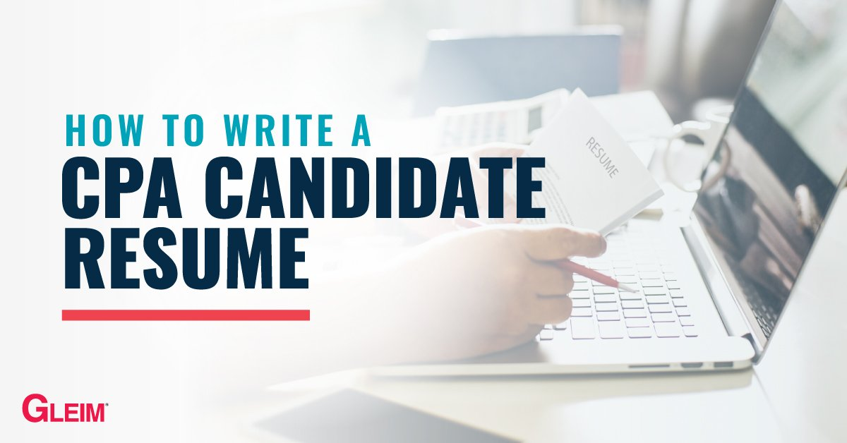 How to write a CPA Candidate Resume